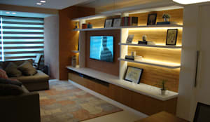 Salones de estilo moderno de Geraldo Brognoli Ludwich Arquitetura