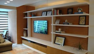 Salas / recibidores de estilo moderno por Geraldo Brognoli Ludwich Arquitetura
