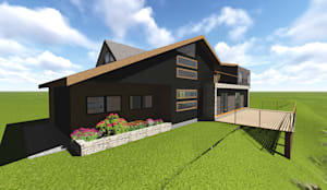 VIVIENDA UNIFAMILIAR DE NIEBLA - VALDIVIA: Casas de estilo  por GerSS Arquitectos