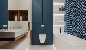 Ванные комнаты в . Автор – Ale design Grzegorz Grzywacz