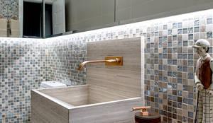 Projekty,  Łazienka zaprojektowane przez Milla Holtz Arquitetura