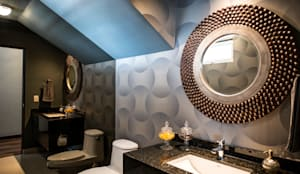 Colina 2122: Baños de estilo  por ESTUDIO TANGUMA