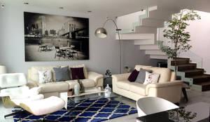 Salas / recibidores de estilo minimalista por Base-Arquitectura
