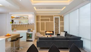 Salas / recibidores de estilo moderno por Bloque B Arquitectos