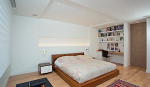 Apto Cr 19 - Cll 88: Habitaciones de estilo  por Bloque B Arquitectos