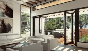 Salas / recibidores de estilo moderno por Cabas/Garzon Arquitectos
