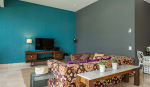 Salas de estar modernas por MORADA CUATRO
