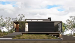 Fachada Hacia la Calle: Casas de estilo  por 1.61 Arquitectos