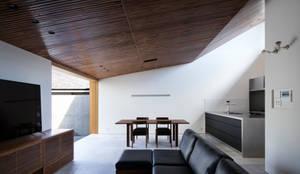 彦根の家:  井上久実設計室が手掛けたリビングです。,