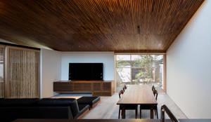 彦根の家:  井上久実設計室が手掛けたリビングです。