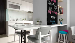 青年99成家專案─美式簡約:  餐廳 by 磨設計