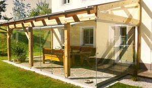 balkon berdachung aus aluminium glas profesjonalista fenster schmidinger homify. Black Bedroom Furniture Sets. Home Design Ideas
