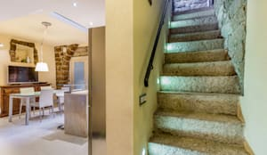 Corredores, halls e escadas ecléticos por MAMESTUDIO