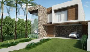 Fachada: Casas modernas por Quitete&Faria Arquitetura e Decoração