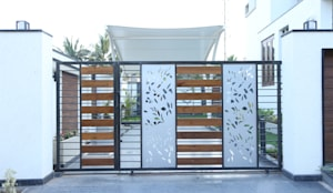 Car parking area gate: modern Houses by Hasta architects