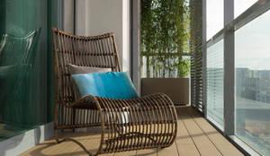 Varanda da Sala | Depois: Terraços  por MUDA Home Design