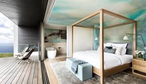 minimalistische Schlafzimmer von Pixers