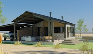 Steel Framed Home : modern Houses by Edge Design Studio Architects