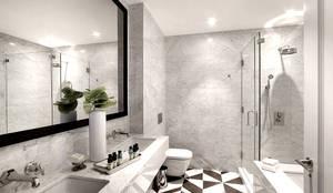 Penthouse Bathroom: modern Bathroom by Joe Ginsberg