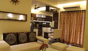 3bhk: modern Dining room by I - design interior designer's