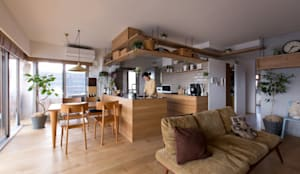 nionohama-apartment-house-renovation: ALTS DESIGN OFFICEが手掛けたキッチンです。,ラスティック 木 木目調
