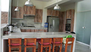 Cocinas de estilo rústico por malu goni