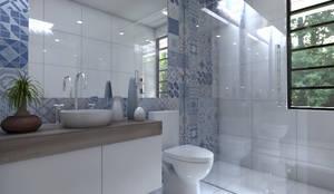 Bagno in stile in stile Moderno di Arqternativa