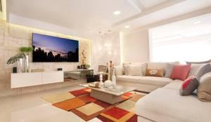 Ana Lucia Salama - Arquitetura e Interiores: modern tarz Oturma Odası