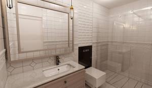 50GR Mimarlık – halkalı_1+1 daire: modern tarz Banyo