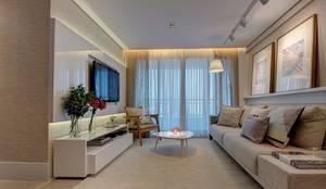 Salas / recibidores de estilo moderno por Dome arquitetura