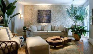 VARANDA GOURMET : Terraços  por silvana albuquerque arquitetura e design
