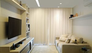 Sala de estar apartamento Alexandre Ramos: Salas de estar modernas por Priscila Boldrini Design e Arquitetura