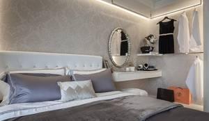 主臥床頭:  臥室 by 你你空間設計