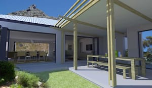 outdoor lounge:  Patios by tillmanecke:architecture