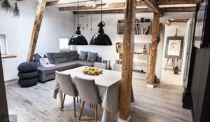 Salones de estilo escandinavo de Limonki Studio Wojciech Siudowski