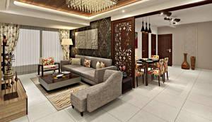 3BHK Flat Interior Design and Decorate at Mangalam Grand Vista, Vaishali  Nagar, Jaipur