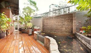 Jardines de estilo tropical por 芸采創意空間設計-YCID Interior Design