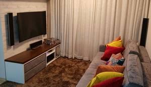 Apartamento Butantã: Salas de estar modernas por Arquiteta Elaine Silva