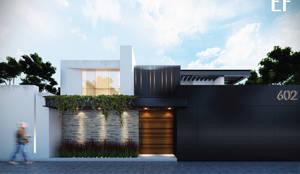 Propuesta de fachada exterior 1: Casas de estilo  por Besana Studio