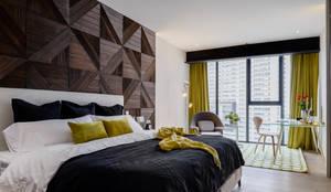 غرفة نوم تنفيذ NIVEL TRES ARQUITECTURA