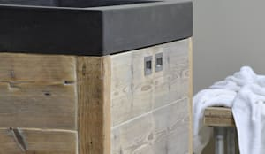 Badkamermeubel steigerhout : moderne Badkamer door RestyleXL
