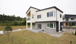 주택전경: 인우건축사사무소의  주택