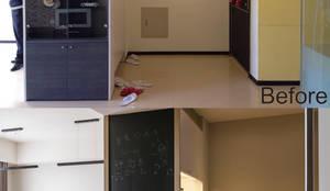 賀澤室內設計 HOZO_interior_design의  복도, 현관 & 계단