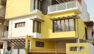 Road facing elevation: minimalistic Houses by Aadyam Design Studio