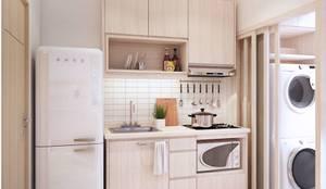 Nhà bếp by เหนือ ดีไซน์ สตูดิโอ (North Design Studio)