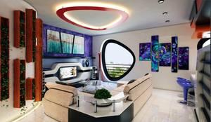 Phell Residence: Soggiorno in stile in stile Moderno di Denis Confalonieri - Interiors & Architecture