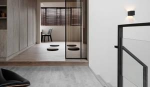 竹風低吟:  臥室 by 白金里居  空間設計