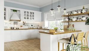 Европейская весна: Кухни в . Автор – Компания архитекторов Латышевых 'Мечты сбываются', Модерн