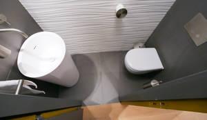Conception d 39 une salle de douche by myriam wozniak architecture et d coration homify for Amenagement de toilettes