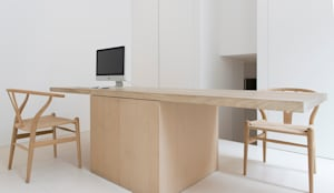 Office: minimalistische Studeerkamer/kantoor door Jen Alkema architect